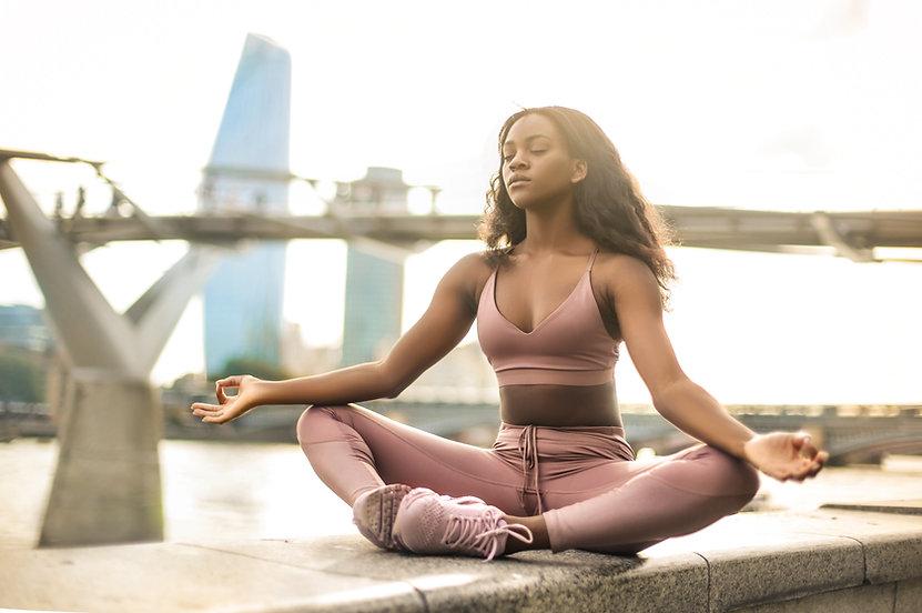 Meditating Outdoors