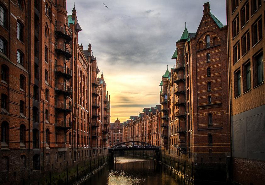Sonnenuntergang im Hamburg