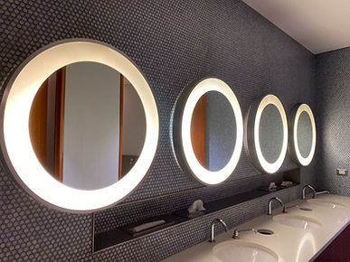 Restroom Sinks and Mirrors