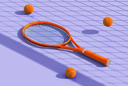 Tennis Balls and Racket