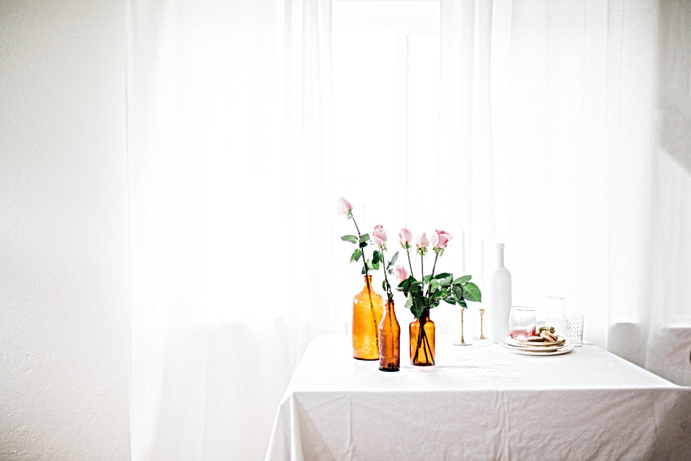 Bruine bloemenvazen