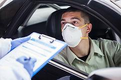 Man Wearing Protective Mask