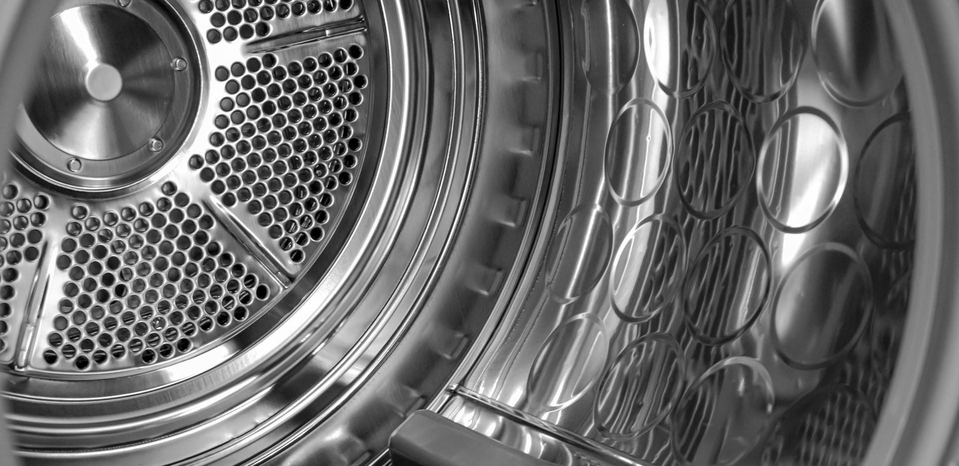 Interior da máquina de lavar
