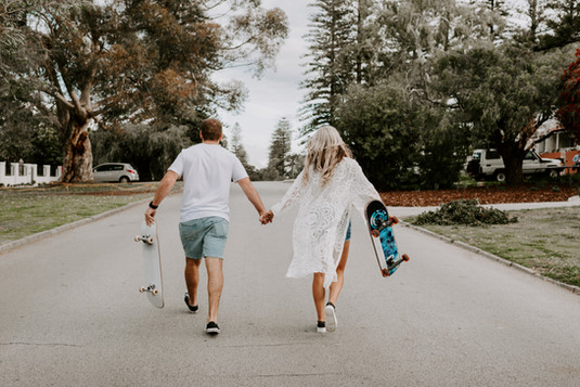 Couples with Skateboards