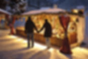 Bancarella del mercatino di Natale