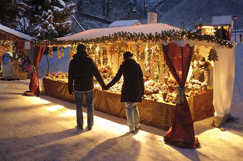 Étal de marché de Noël