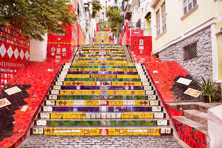 Gemalte Treppe