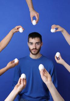 Umgeben von Eiern