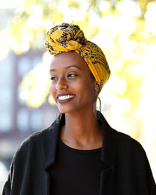 Woman with Head Scarf