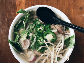 Detox Pho Ginger lemon grass veggie broth bean sprouts jalapeno basil cilantro green onion mushrooms