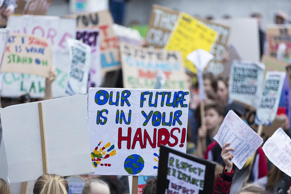 climate strike demonstration