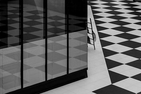 Zwart-witte tegels