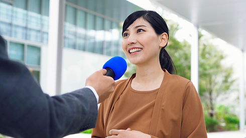 Woman Getting Interviewed