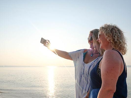 Women Selfie on Beach