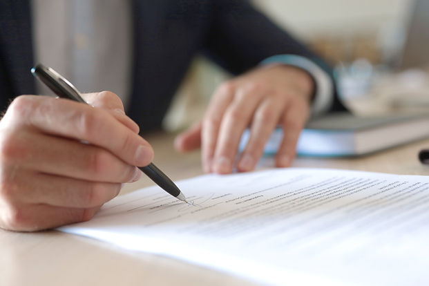 Signing a Contract