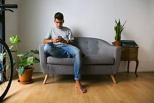 Teenage Boy on Mobile Phone
