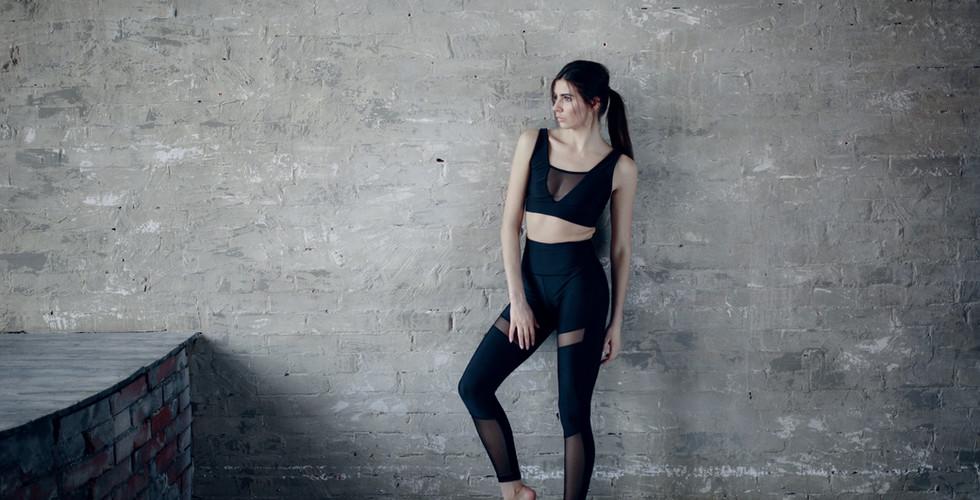 Frau in Sportbekleidung