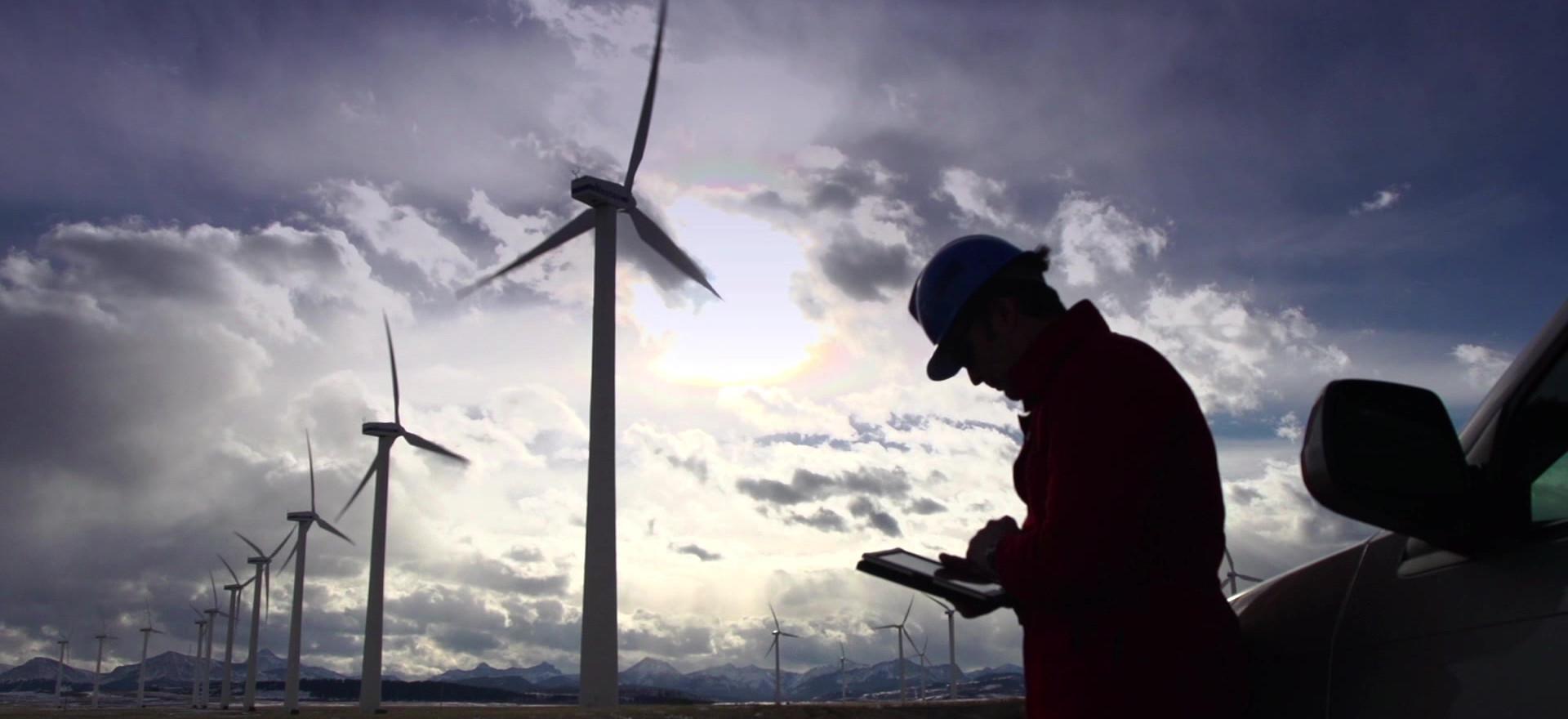 Ingeniero turbinas de viento Inspección