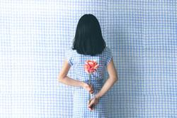 Patrón de vestido de papel tapiz