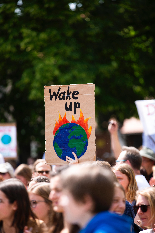 環境活動家の抗議
