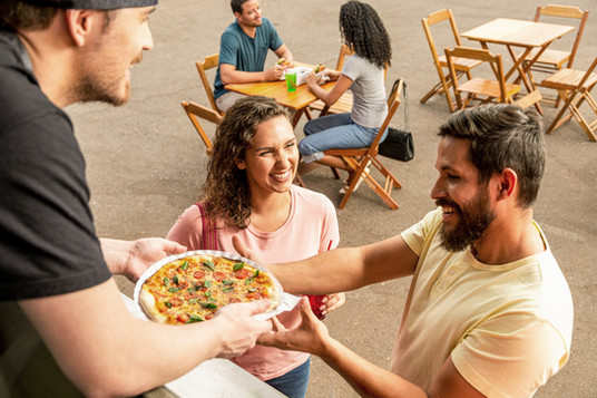 Pizza vom Food Truck