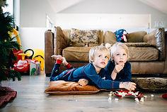Siblings Watching TV