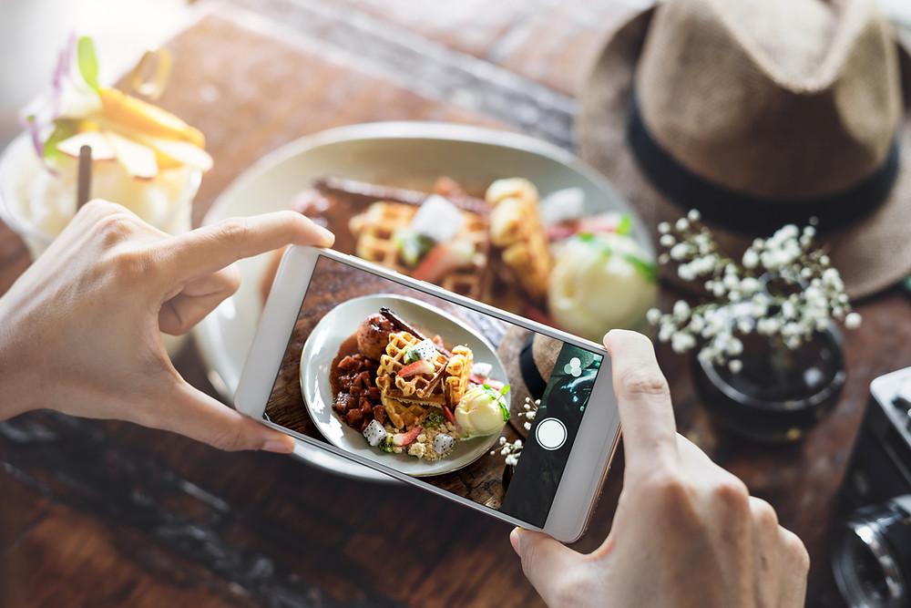 Foto comida redes sociales macros