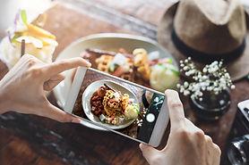 Fotografía instantanea de comida