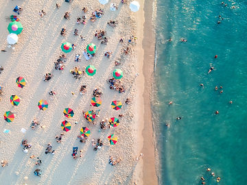 Foto aérea da praia