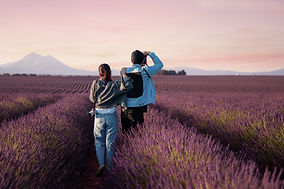 Standing in Lavender Fields