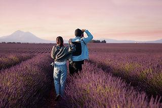 Standing in Lavender Fields