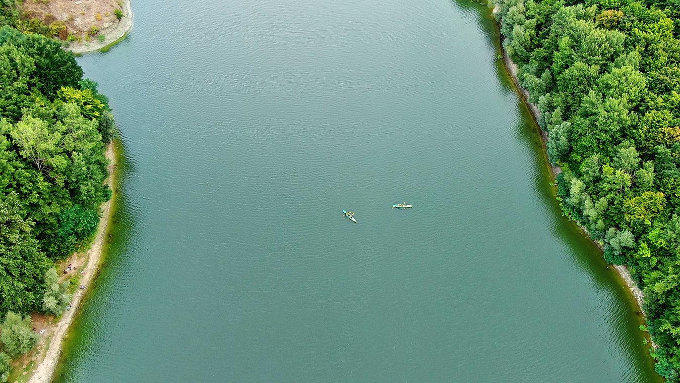 Vista aérea del río