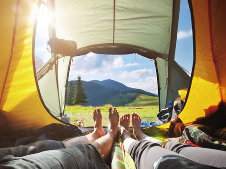 Meredith, would you rather spend the night in a luxury hotel or camping in beautiful scenery?