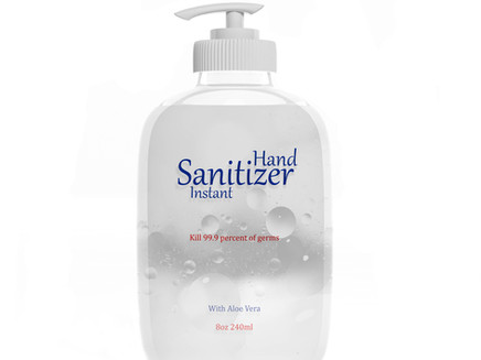 Is the sanitizer you're using on the FDA's 'toxic' list?  See the methanol sanitizer recall below.