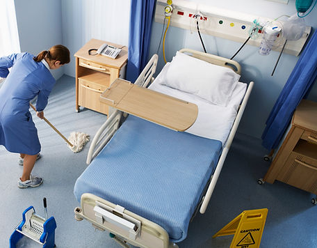 Cleaning Hospital Room