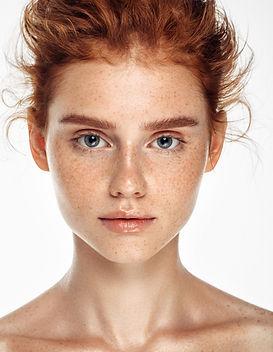 Zartes Porträt des Modells