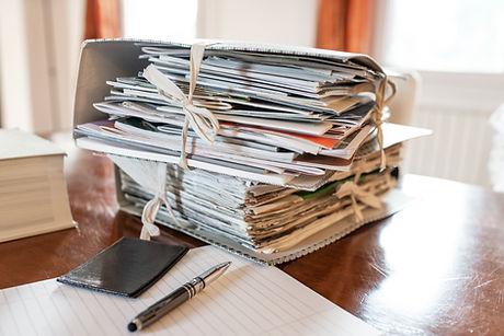 Stapel von Dateien