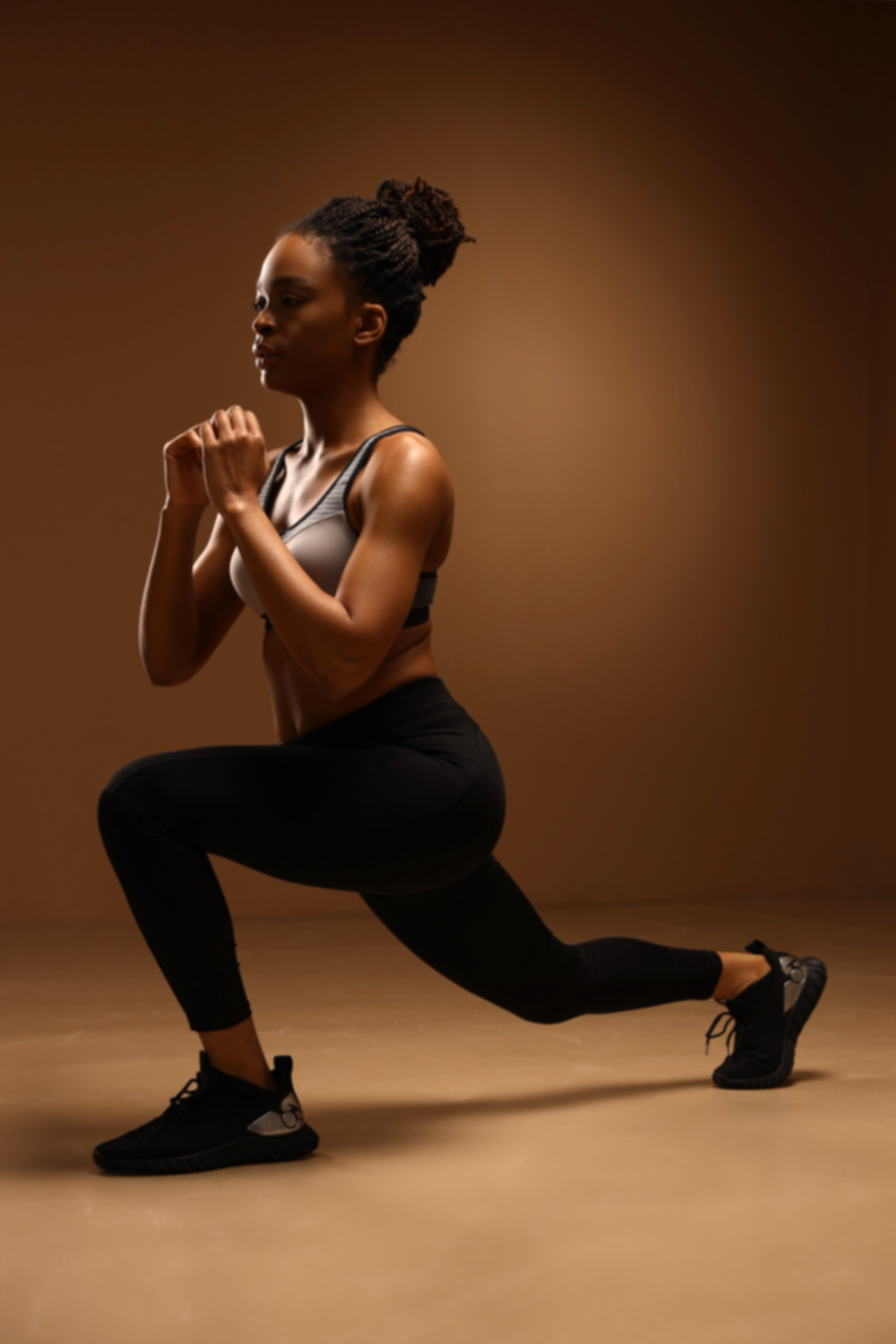 woman lunging