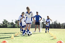 Girls During Soccer Practice