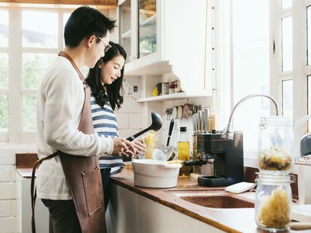おしゃれなカフェ風キッチンがあれば、料理の時間が一番楽しくなります。