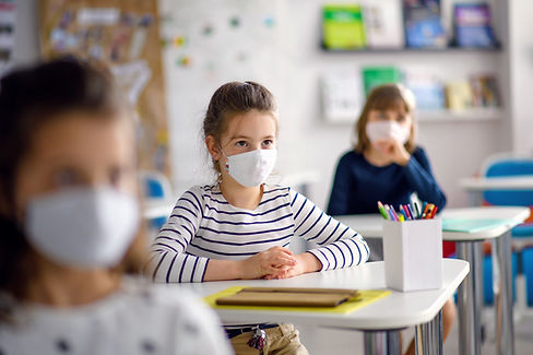 Students with Masks