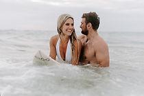 Paar im Meer