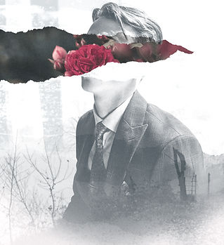 Man with Flower Collage