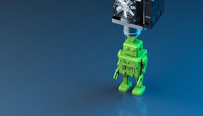 Modelo de robot de impresión