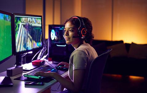 Jogadora de videogame
