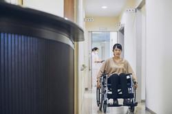 Patient on Wheelchair