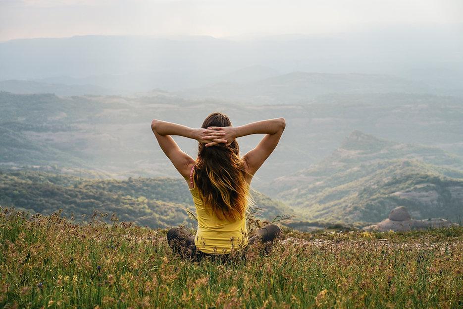 大自然の中の瞑想