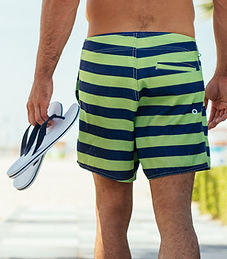 A Man Wearing Water Shorts