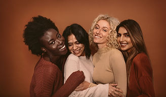 Diverse Female Friends Laughing
