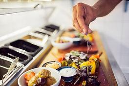 Preparing veggies